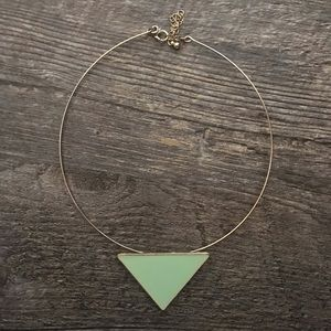 Forever 21 Mint Green Triangle Choker